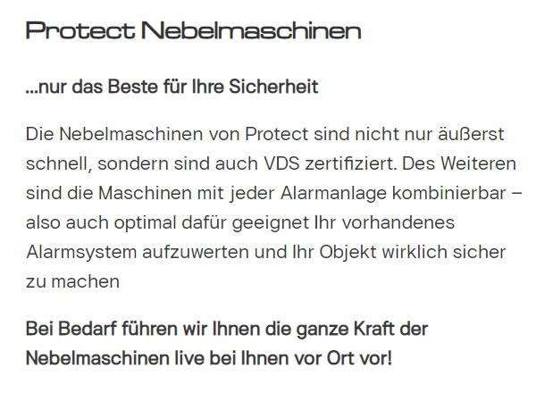Einbruchabwehr Nebelkanonen aus  Heidelberg